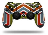 WraptorSkinz Skin compatible with Sony PS4 Dualshock Controller PlayStation 4 Original Slim and Pro Zig Zag Colors 01 (CONTROLLER NOT INCLUDED)