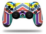Vinyl Skin Wrap for Sony PS4 Dualshock Controller Zig Zag Colors 04 (CONTROLLER NOT INCLUDED)