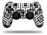 Skin Wrap for Sony PS4 Dualshock Controller Squares In Squares (CONTROLLER NOT INCLUDED)