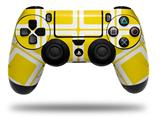 Vinyl Skin Wrap for Sony PS4 Dualshock Controller Squared Yellow (CONTROLLER NOT INCLUDED)