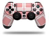 Vinyl Decal Skin Wrap compatible with Sony PlayStation 4 Dualshock Controller Squared Pink (PS4 CONTROLLER NOT INCLUDED)