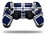 Vinyl Decal Skin Wrap compatible with Sony PlayStation 4 Dualshock Controller Squared Navy Blue (PS4 CONTROLLER NOT INCLUDED)