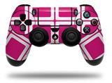 Vinyl Decal Skin Wrap compatible with Sony PlayStation 4 Dualshock Controller Squared Fushia Hot Pink (PS4 CONTROLLER NOT INCLUDED)