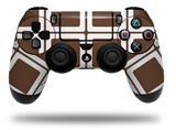 Vinyl Skin Wrap for Sony PS4 Dualshock Controller Squared Chocolate Brown (CONTROLLER NOT INCLUDED)