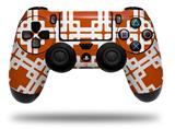 Skin Wrap for Sony PS4 Dualshock Controller Boxed Burnt Orange (CONTROLLER NOT INCLUDED)