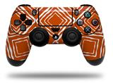 Skin Wrap for Sony PS4 Dualshock Controller Wavey Burnt Orange (CONTROLLER NOT INCLUDED)