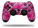 WraptorSkinz Skin compatible with Sony PS4 Dualshock Controller PlayStation 4 Original Slim and Pro Wavey Fushia Hot Pink (CONTROLLER NOT INCLUDED)