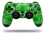 Vinyl Decal Skin Wrap compatible with Sony PlayStation 4 Dualshock Controller Wavey Green (PS4 CONTROLLER NOT INCLUDED)