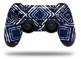 WraptorSkinz Skin compatible with Sony PS4 Dualshock Controller PlayStation 4 Original Slim and Pro Wavey Navy Blue (CONTROLLER NOT INCLUDED)