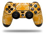 WraptorSkinz Skin compatible with Sony PS4 Dualshock Controller PlayStation 4 Original Slim and Pro Wavey Orange (CONTROLLER NOT INCLUDED)