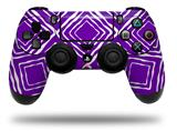 Vinyl Skin Wrap for Sony PS4 Dualshock Controller Wavey Purple (CONTROLLER NOT INCLUDED)