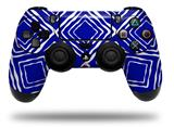 WraptorSkinz Skin compatible with Sony PS4 Dualshock Controller PlayStation 4 Original Slim and Pro Wavey Royal Blue (CONTROLLER NOT INCLUDED)