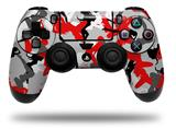 Vinyl Decal Skin Wrap compatible with Sony PlayStation 4 Dualshock Controller Sexy Girl Silhouette Camo Red (PS4 CONTROLLER NOT INCLUDED)