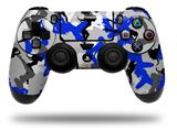 Skin Wrap for Sony PS4 Dualshock Controller Sexy Girl Silhouette Camo Blue (CONTROLLER NOT INCLUDED)