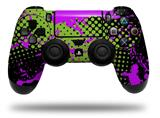 Vinyl Skin Wrap for Sony PS4 Dualshock Controller Halftone Splatter Hot Pink Green (CONTROLLER NOT INCLUDED)