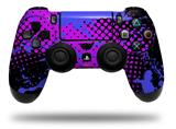 Skin Wrap for Sony PS4 Dualshock Controller Halftone Splatter Blue Hot Pink (CONTROLLER NOT INCLUDED)
