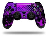 WraptorSkinz Skin compatible with Sony PS4 Dualshock Controller PlayStation 4 Original Slim and Pro Halftone Splatter Hot Pink Purple (CONTROLLER NOT INCLUDED)