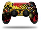 WraptorSkinz Skin compatible with Sony PS4 Dualshock Controller PlayStation 4 Original Slim and Pro Halftone Splatter Yellow Red (CONTROLLER NOT INCLUDED)