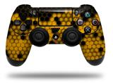 WraptorSkinz Skin compatible with Sony PS4 Dualshock Controller PlayStation 4 Original Slim and Pro HEX Yellow (CONTROLLER NOT INCLUDED)