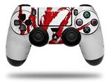 Vinyl Decal Skin Wrap compatible with Sony PlayStation 4 Dualshock Controller WraptorSkinz WZ on White (PS4 CONTROLLER NOT INCLUDED)