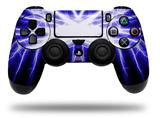 Vinyl Decal Skin Wrap compatible with Sony PlayStation 4 Dualshock Controller Lightning Blue (PS4 CONTROLLER NOT INCLUDED)