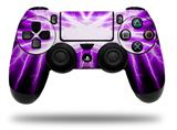 WraptorSkinz Skin compatible with Sony PS4 Dualshock Controller PlayStation 4 Original Slim and Pro Lightning Purple (CONTROLLER NOT INCLUDED)