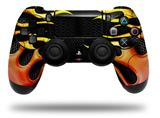 WraptorSkinz Skin compatible with Sony PS4 Dualshock Controller PlayStation 4 Original Slim and Pro Metal Flames (CONTROLLER NOT INCLUDED)