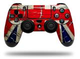 Vinyl Decal Skin Wrap compatible with Sony PlayStation 4 Dualshock Controller Painted Faded and Cracked Union Jack British Flag (PS4 CONTROLLER NOT INCLUDED)