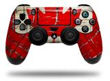 Vinyl Decal Skin Wrap compatible with Sony PlayStation 4 Dualshock Controller Painted Faded and Cracked Canadian Canada Flag (PS4 CONTROLLER NOT INCLUDED)