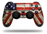 Vinyl Decal Skin Wrap compatible with Sony PlayStation 4 Dualshock Controller Painted Faded and Cracked USA American Flag (PS4 CONTROLLER NOT INCLUDED)
