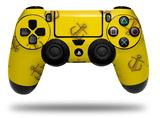 Vinyl Decal Skin Wrap compatible with Sony PlayStation 4 Dualshock Controller Anchors Away Yellow (PS4 CONTROLLER NOT INCLUDED)