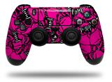 Vinyl Skin Wrap for Sony PS4 Dualshock Controller Scattered Skulls Hot Pink (CONTROLLER NOT INCLUDED)