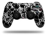 Skin Wrap for Sony PS4 Dualshock Controller Scattered Skulls Black (CONTROLLER NOT INCLUDED)