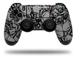 Vinyl Decal Skin Wrap compatible with Sony PlayStation 4 Dualshock Controller Scattered Skulls Gray (PS4 CONTROLLER NOT INCLUDED)