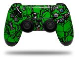 Vinyl Skin Wrap for Sony PS4 Dualshock Controller Scattered Skulls Green (CONTROLLER NOT INCLUDED)