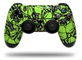 Vinyl Skin Wrap for Sony PS4 Dualshock Controller Scattered Skulls Neon Green (CONTROLLER NOT INCLUDED)