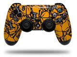 Vinyl Decal Skin Wrap compatible with Sony PlayStation 4 Dualshock Controller Scattered Skulls Orange (PS4 CONTROLLER NOT INCLUDED)