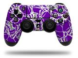 Vinyl Skin Wrap for Sony PS4 Dualshock Controller Scattered Skulls Purple (CONTROLLER NOT INCLUDED)