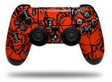 Vinyl Skin Wrap for Sony PS4 Dualshock Controller Scattered Skulls Red (CONTROLLER NOT INCLUDED)