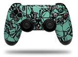 Vinyl Decal Skin Wrap compatible with Sony PlayStation 4 Dualshock Controller Scattered Skulls Seafoam Green (PS4 CONTROLLER NOT INCLUDED)