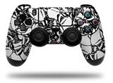 Vinyl Skin Wrap for Sony PS4 Dualshock Controller Scattered Skulls White (CONTROLLER NOT INCLUDED)