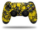 Vinyl Decal Skin Wrap compatible with Sony PlayStation 4 Dualshock Controller Scattered Skulls Yellow (PS4 CONTROLLER NOT INCLUDED)