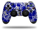 Vinyl Decal Skin Wrap compatible with Sony PlayStation 4 Dualshock Controller Scattered Skulls Royal Blue (PS4 CONTROLLER NOT INCLUDED)