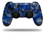 WraptorSkinz Skin compatible with Sony PS4 Dualshock Controller PlayStation 4 Original Slim and Pro HEX Mesh Camo 01 Blue Bright (CONTROLLER NOT INCLUDED)