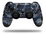Vinyl Skin Wrap for Sony PS4 Dualshock Controller HEX Mesh Camo 01 Blue (CONTROLLER NOT INCLUDED)
