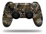 WraptorSkinz Skin compatible with Sony PS4 Dualshock Controller PlayStation 4 Original Slim and Pro HEX Mesh Camo 01 Brown (CONTROLLER NOT INCLUDED)