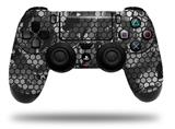 Vinyl Skin Wrap for Sony PS4 Dualshock Controller HEX Mesh Camo 01 Gray (CONTROLLER NOT INCLUDED)