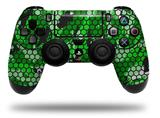 Vinyl Decal Skin Wrap compatible with Sony PlayStation 4 Dualshock Controller HEX Mesh Camo 01 Green Bright (PS4 CONTROLLER NOT INCLUDED)