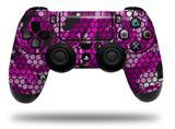 WraptorSkinz Skin compatible with Sony PS4 Dualshock Controller PlayStation 4 Original Slim and Pro HEX Mesh Camo 01 Pink (CONTROLLER NOT INCLUDED)