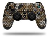 Vinyl Decal Skin Wrap compatible with Sony PlayStation 4 Dualshock Controller HEX Mesh Camo 01 Tan (PS4 CONTROLLER NOT INCLUDED)